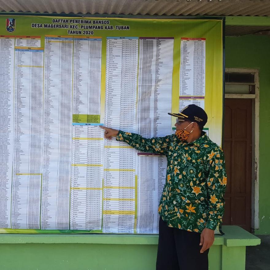 Data Penerima Bansos Desa Magersari Tahun 2020
