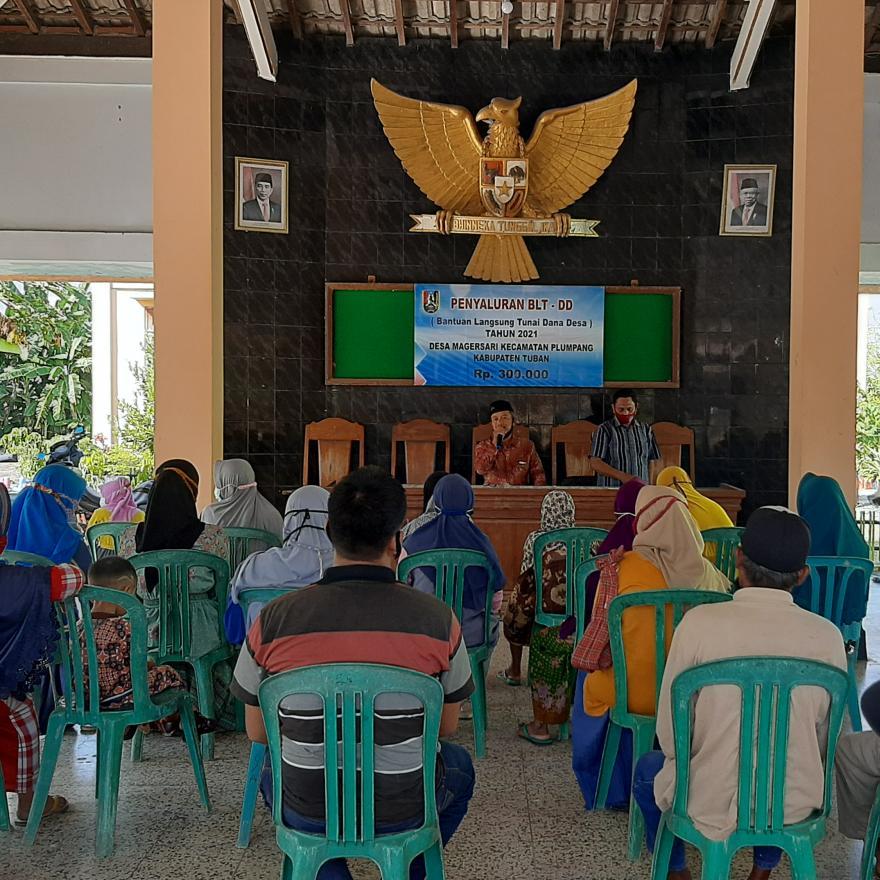 Penyaluran Bantuan Langsung Tunai Dana Desa (BLT-DD) Tahap 01 Tahun 2021
